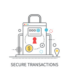 Secure transactions modern concept vector