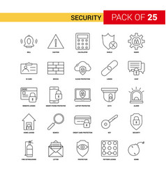 security black line icon - 25 business outline vector image