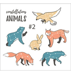 Set of hand-drawn style animals vector