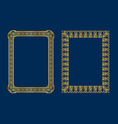 set of luxury decorative vintage frames and vector image