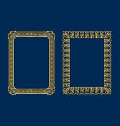 set of luxury decorative vintage frames vector image