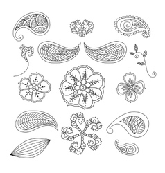 Set of Mendie elements vector image