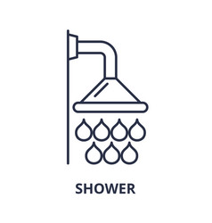 shower line icon concept shower linear vector image