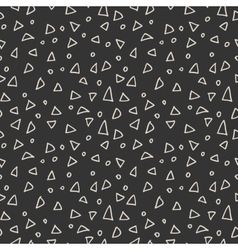Simple seamless pattern of triangles and circles vector