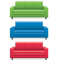 sofas vector image