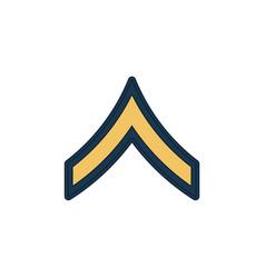 Soldier military rank insignia private pv-2 icon vector