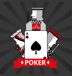 Spade ace jack king and queen cards playing poker vector