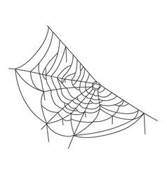 spider web black icon halloween spiderweb symbol vector image