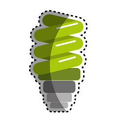 Sticker green save bulb energy icon vector