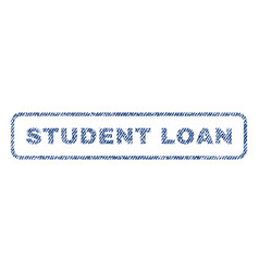 student loan textile stamp vector image