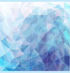 Triangular wavy abstract background blue vector