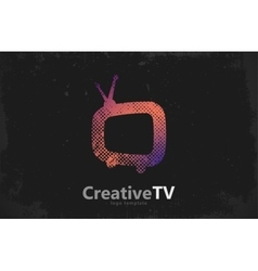 TV logo Creative tv logo design Media design vector