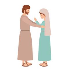 Virgin mary and saint joseph vector