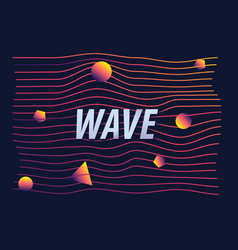 wave colorful gradient line abstract vector image