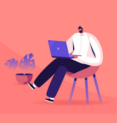 young business man programmer creative vector image