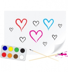 drawing heart vector image