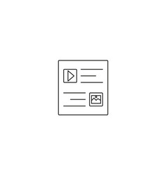 flat long shadow web window icon vector image vector image