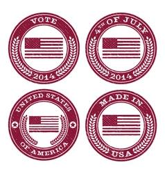 Grunge Patriotic Flag Emblems vector image vector image