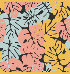 summer seamless tropical pattern vector image