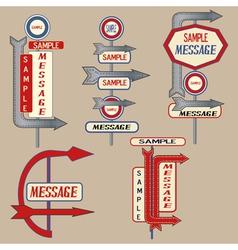 vintage signpost elements vector image vector image