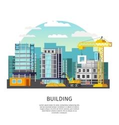 Building Work Orthogonal Design vector image vector image