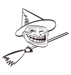 cartoon meme Halloween face Isolated eps vector image