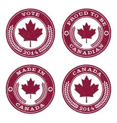 Grunge canada maple leaf emblems vector