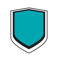 Shield label security design vector