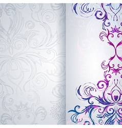 Abstract floral background vector image vector image