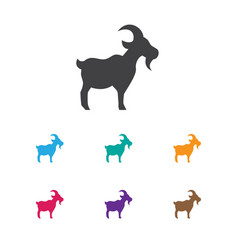 of zoology symbol on goat icon vector image vector image