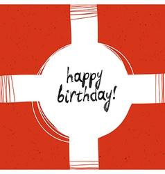 packaging happy birthday vector image vector image