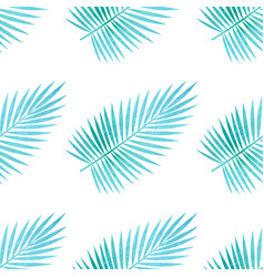 pattern with palm leaves vector image