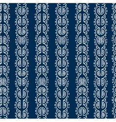 Seamless blue and white ethnic pattern vector