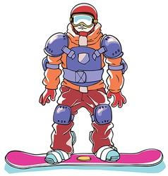 Snowboarder a Body Armor vector image vector image