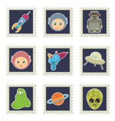 space stamps vector image