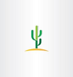 cactus in desert icon vector image
