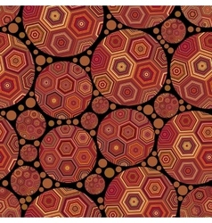 Circles abstract ornament seamless vector image vector image