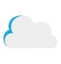 colorful nice cloud nature weather icon vector image vector image