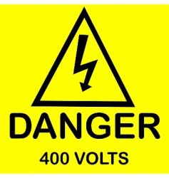 danger 400 volts vector image vector image