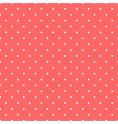 Tile pattern white polka dots on pastel background vector image vector image