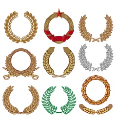 Wreath set - Laurel wreath vector image vector image