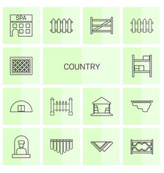 14 country icons vector image