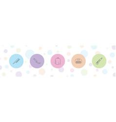 5 cut icons vector