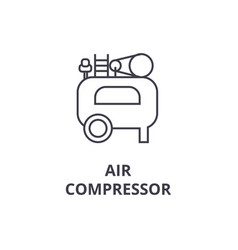 air compressor line icon sign vector image