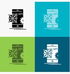 api application coding development mobile icon vector image