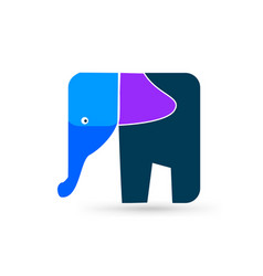 artistic elephant shape icon vector image