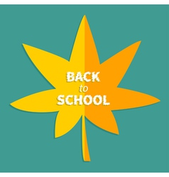 Autumn yellow and orange maple leaf Back to school vector image