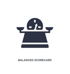 Balanced scorecard icon on white background vector