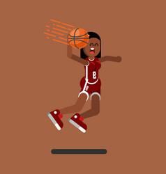 Basketball female player vector