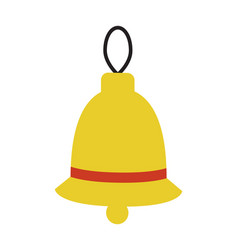 Bell with lace and stripe on vector